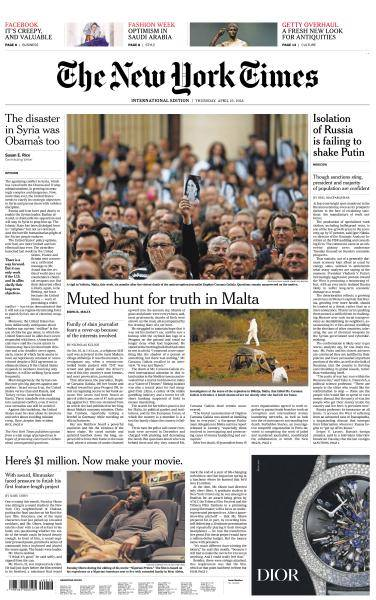 International New York Times - 19 April 2018