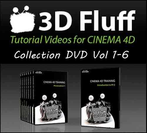 3D Fluff Training For Cinema4D FULL DVD Vol.1-6