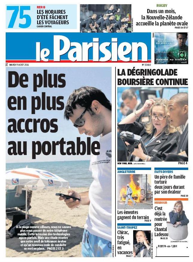 LE PARISIEN (09 Août 2011)