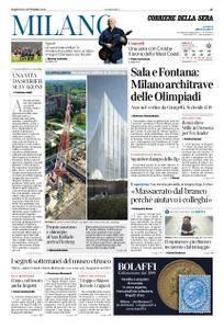 Corriere della Sera Milano – 11 settembre 2018