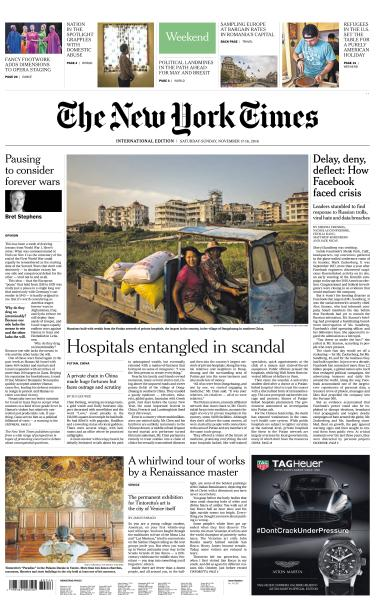 International New York Times - 17-18 November 2018