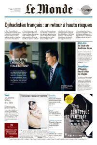 Le Monde du Dimanche 3 et Lundi 4 Décembre 2017
