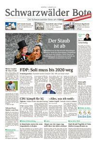 Schwarzwälder Bote St. Georgen, Triberg, Furtwangen - 07. Januar 2019