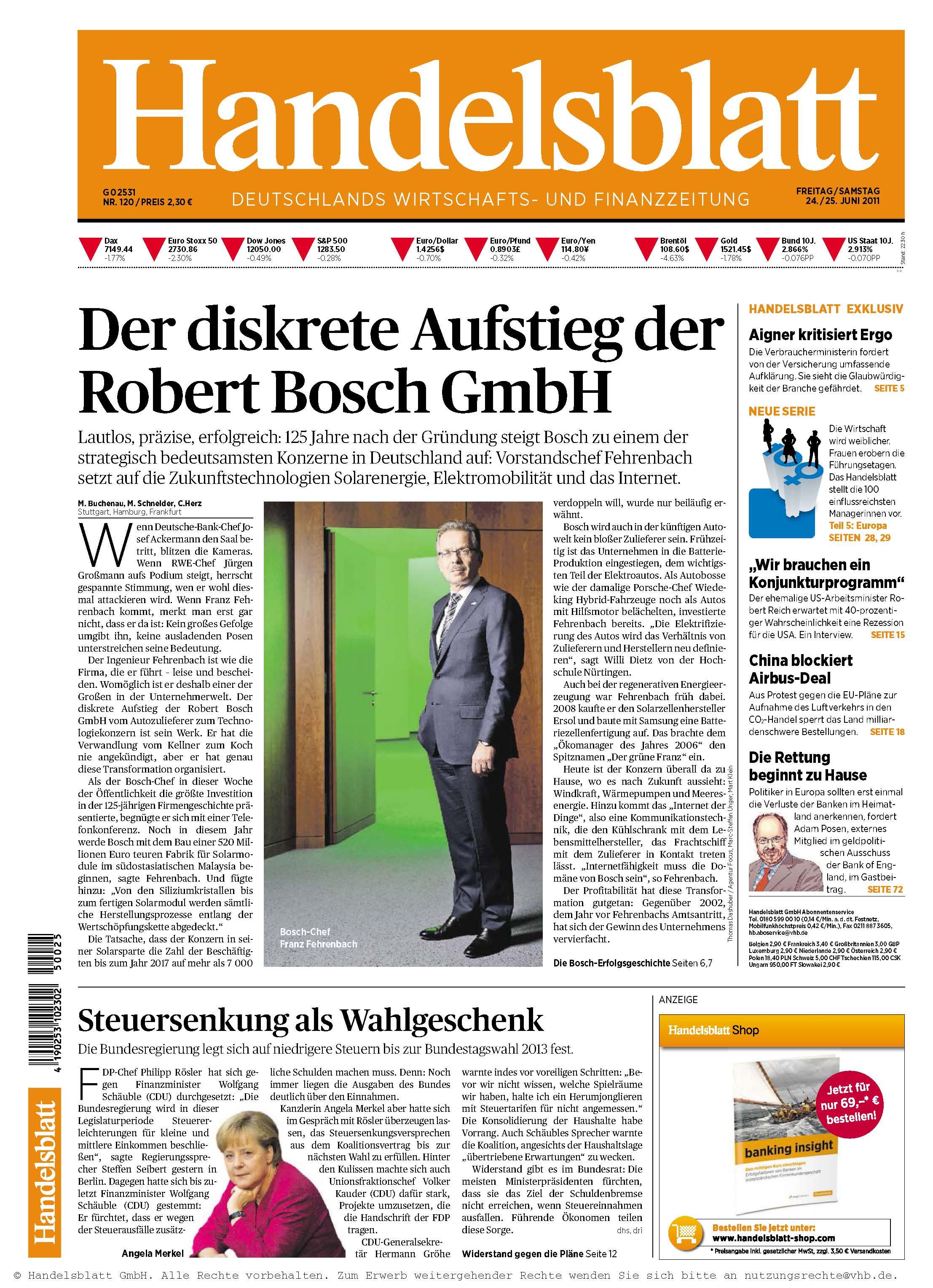 Handelsblatt Nr 120 vom 24.06.2011