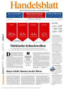 Handelsblatt - 14. August 2018