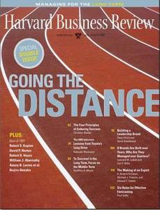 Harvard Business Review July/August 2007