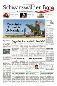 Schwarzwälder Bote Hechingen - 24. November 2018