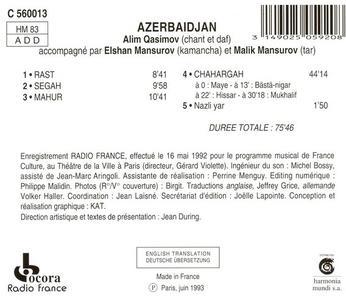Alim Qasimov : Azerbaijan - Classical Mugham