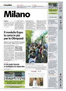 la Repubblica Milano - 5 Luglio 2018