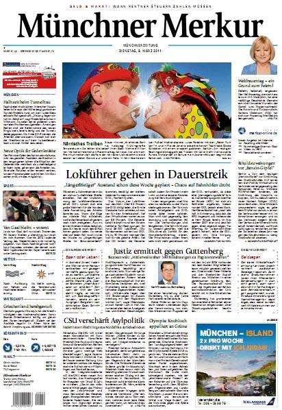 Münchner Merkur vom 8. März 2011