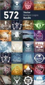 CreativeMarket - 572 Badge Logos Bundle