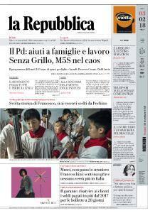 la Repubblica - 3 Febbraio 2018