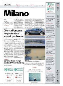 la Repubblica Milano - 18 Marzo 2018