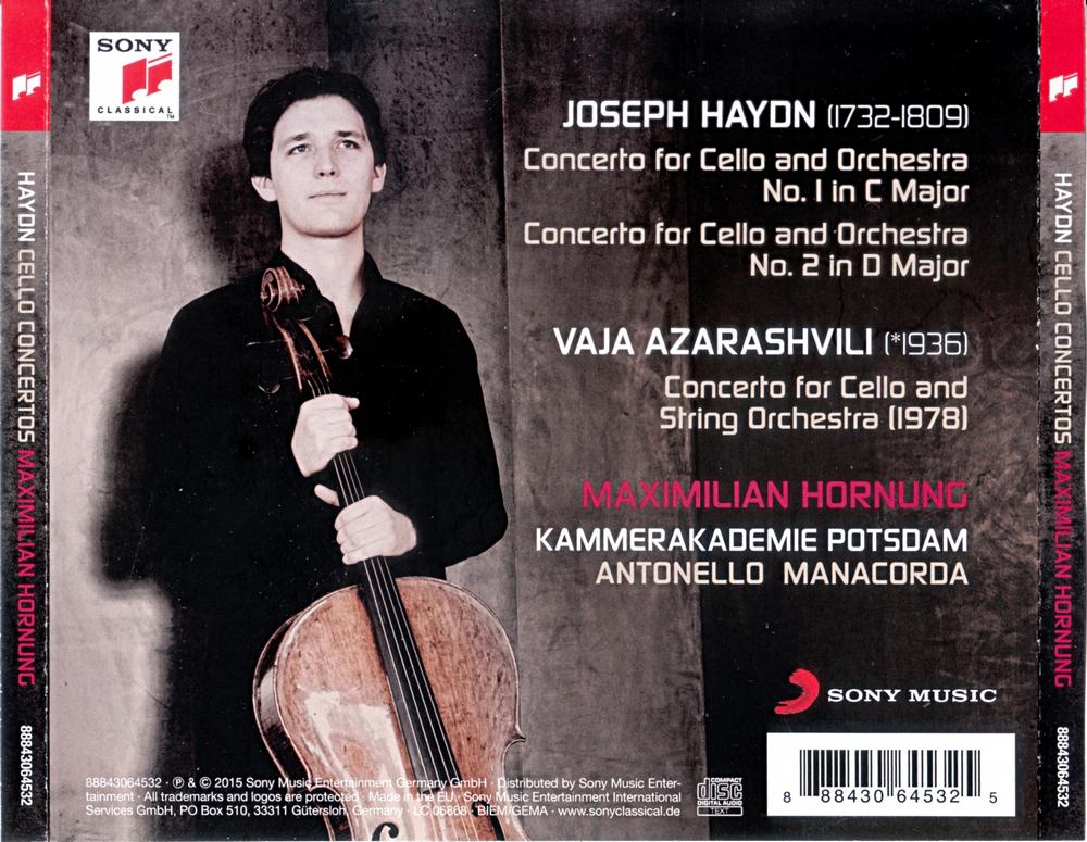 Maximilian Hornung - Haydn, Azarashvili: Cello Concertos (2015) (Repost)