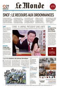 Le Monde du Mardi 27 Février 2018