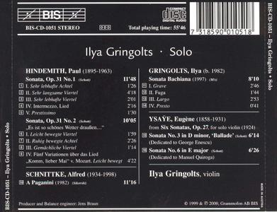 Ilya Gringolts - Solo (2000)