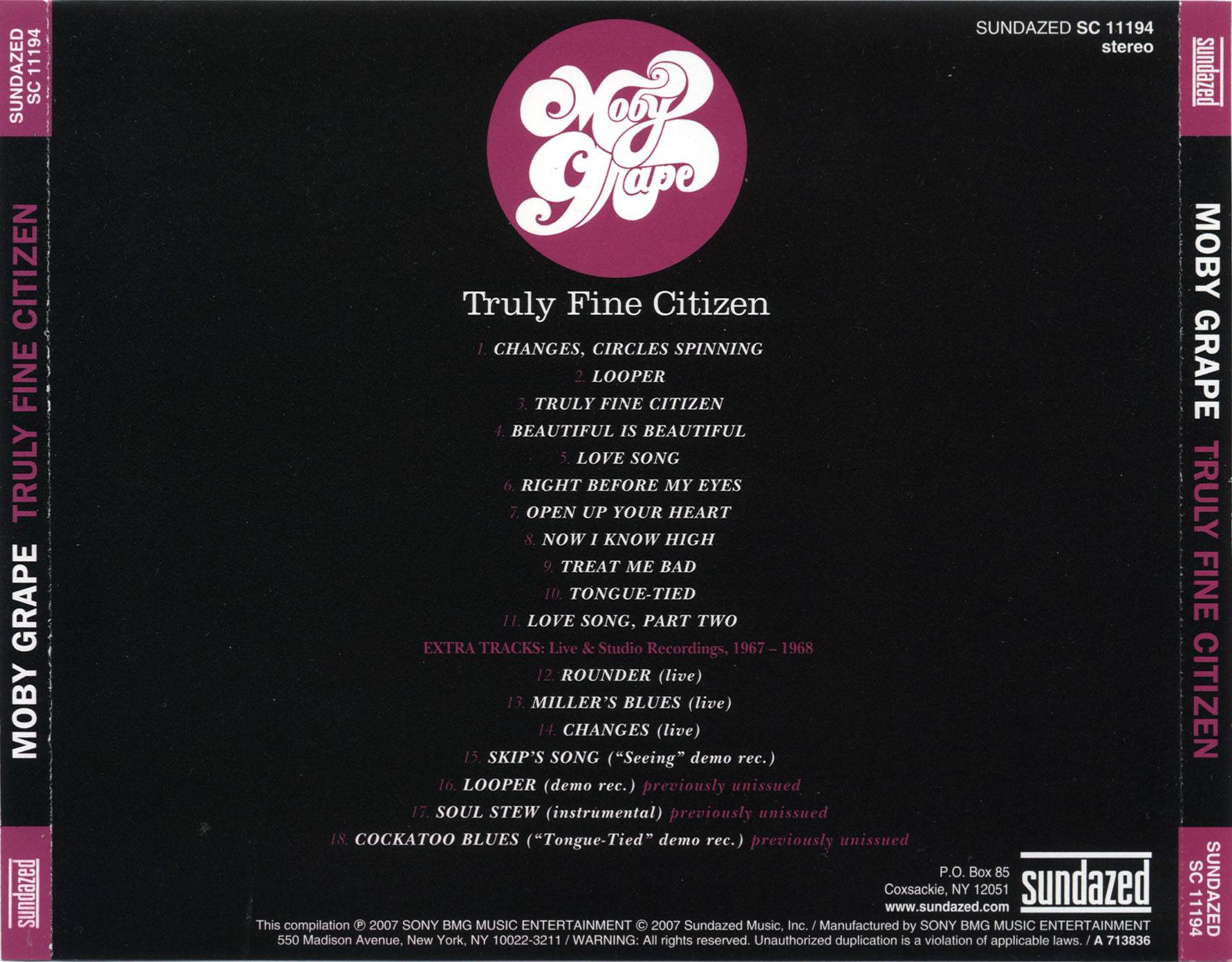 Moby Grape - Truly Fine Citizen (1969) Expanded Remastered 2007