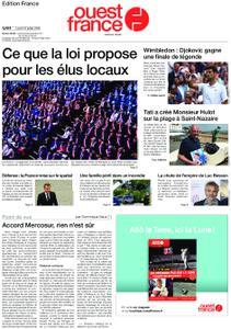 Ouest-France Édition France – 15 juillet 2019
