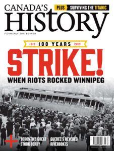Canada's History - April-May 2019