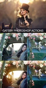 Gatsby Photoshop Actions & Overlays Three Nails Collection