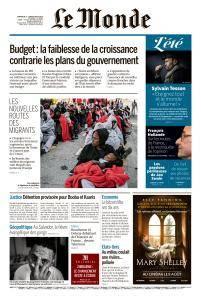 Le Monde du Dimanche 5 et Lundi 6 Août 2018