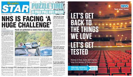 Shropshire Star Shrewsbury Edition – August 10, 2020