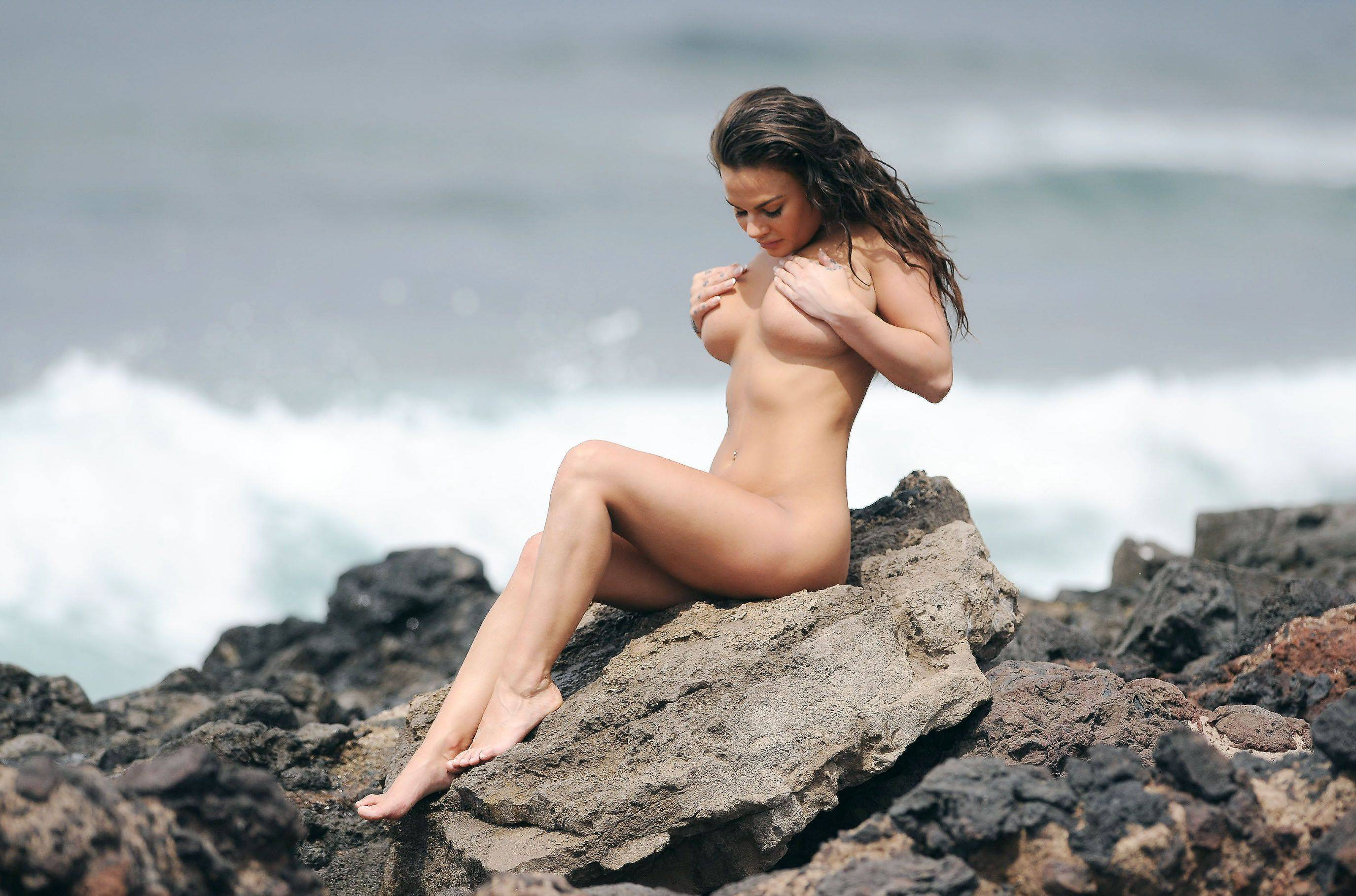 Chantelle Connelly naked in Tenerife on May 4, 2016