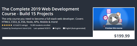 Udemy - The Complete 2019 Web Development Course - Build 15 Projects