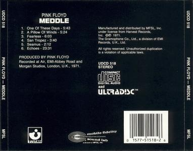 Pink Floyd - (1971) Meddle ((MFSL UDCD 518 - Japan 1989))