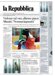 la Repubblica - 22 Febbraio 2018