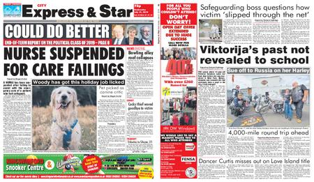 Express and Star City Edition – July 31, 2019