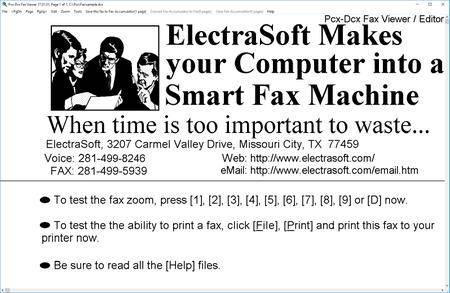 ElectraSoft Pcx-Dcx Fax Viewer 19.11.01