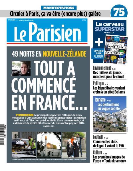 Le Parisien du Samedi 16 Mars 2019