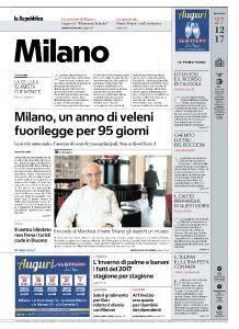 la Repubblica Milano - 27 Dicembre 2017