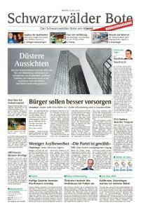 Schwarzwälder Bote St. Georgen, Triberg, Furtwangen - 08. Juli 2019