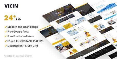 ThemeForest - Vicin v1.0 - Multipurpose Construction & Plumbing PSD Template - 19810954