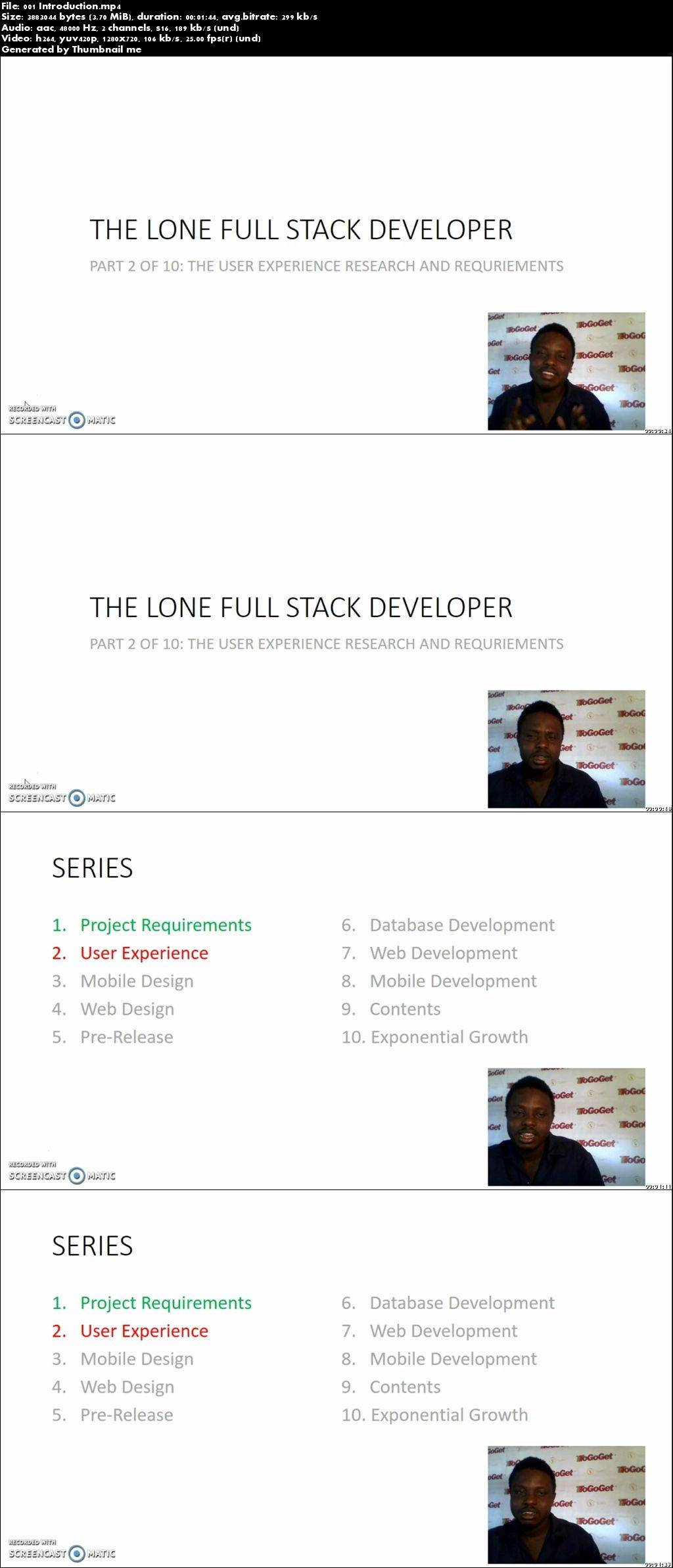The Lone Full Stack Developer: Part 2 The User Experience