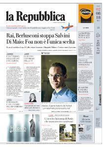 la Repubblica - 2 Agosto 2018