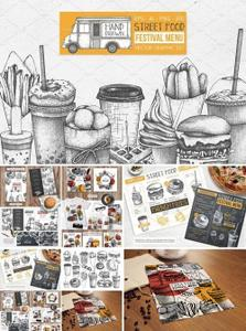 CreativeMarket - Fast Food Restaurant Menu Designs 2649019