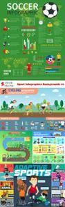 Vectors - Sport Infographics Backgrounds 10
