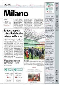 la Repubblica Milano - 25 Marzo 2018