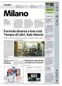 la Repubblica Milano - 28 Settembre 2018
