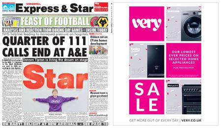 Express and Star Sandwell Edition – December 27, 2018