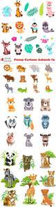 Vectors - Funny Cartoon Animals 73