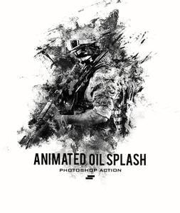 GraphicRiver - Gif Animated Oil Splash Photoshop Action 20811143