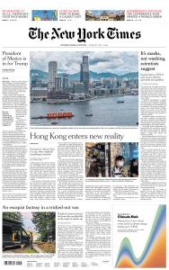 International New York Times - 7 July 2020