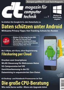 c't Magazin Nr.7 - 14 März 2020