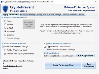 CryptoPrevent 8.0.4.3 Premium Edition Portable