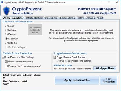 CryptoPrevent 8.0.4.3 Premium Edition Portable