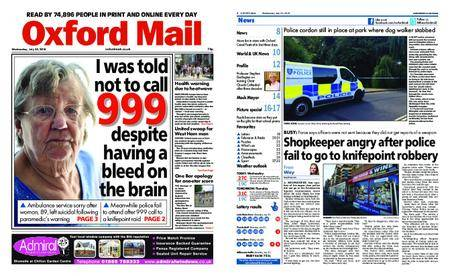 Oxford Mail – July 25, 2018